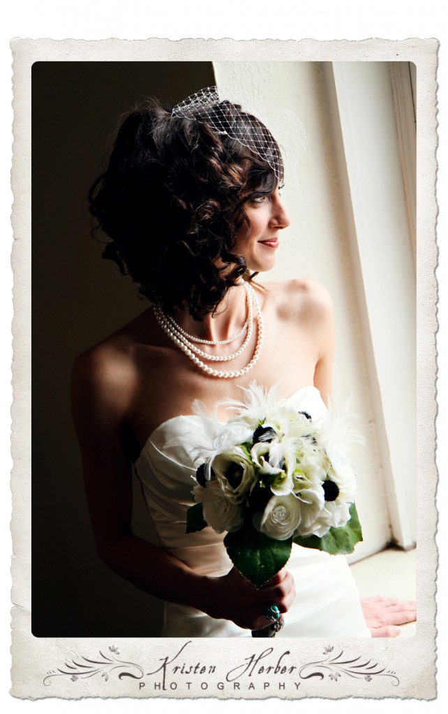 Bride portrait at northwestern college
