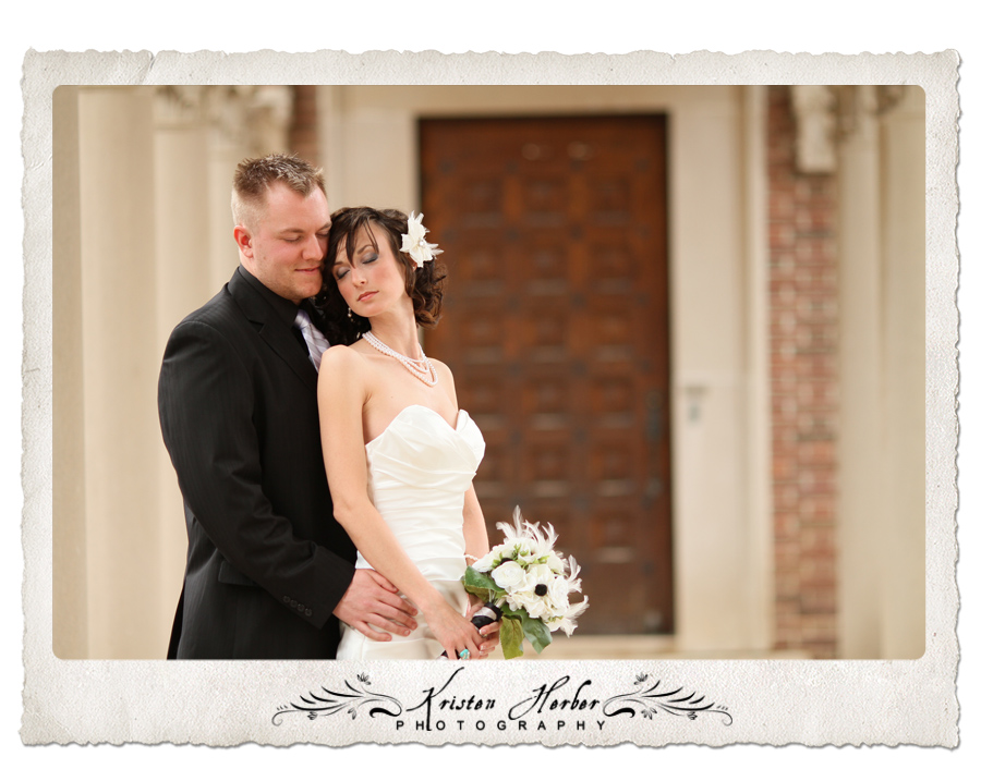 bride and groom at northwestern college Roseville