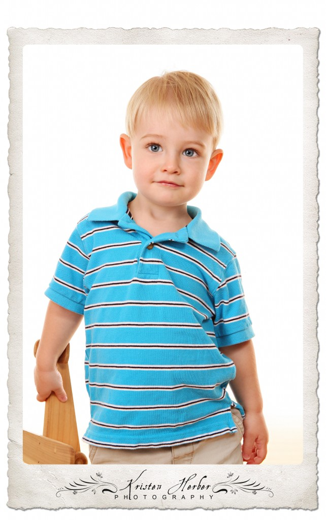 2 year boy in blue shirt