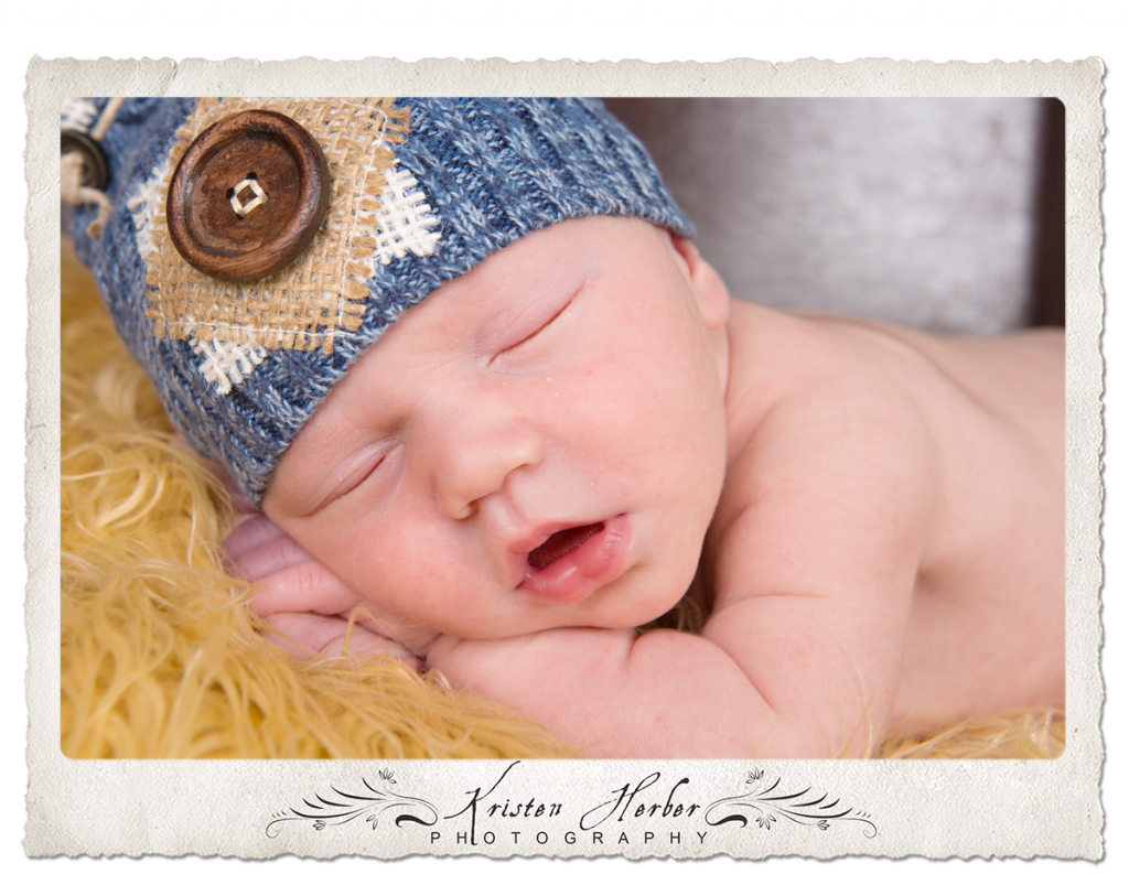 Newborn boy close-up