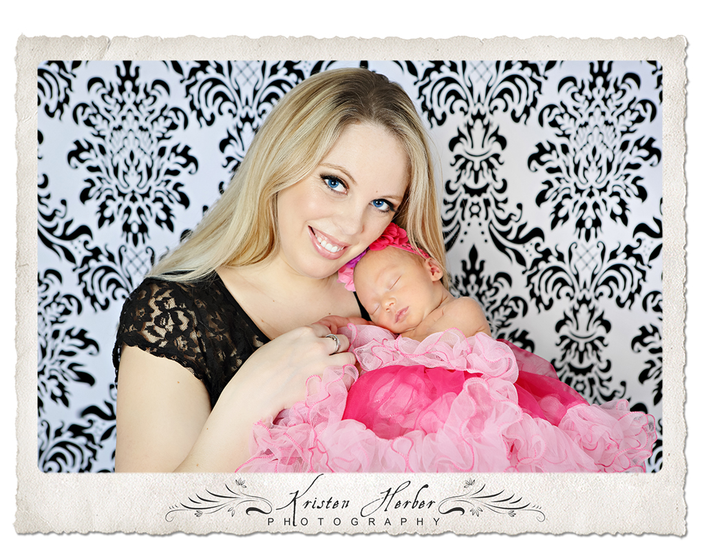 Newborn girl and mom tutu