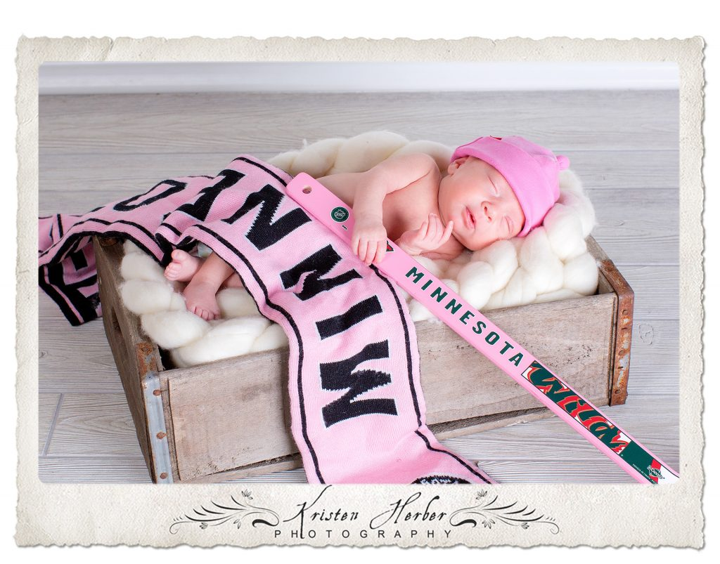 Newborn MN wild hockey fan