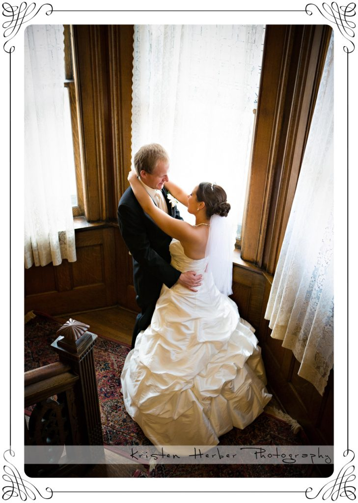 Wedding couple at Summit Manor St paul